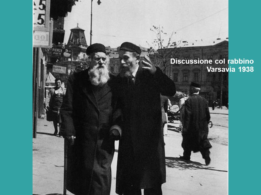 Discussione col rabbino Varsavia 1938