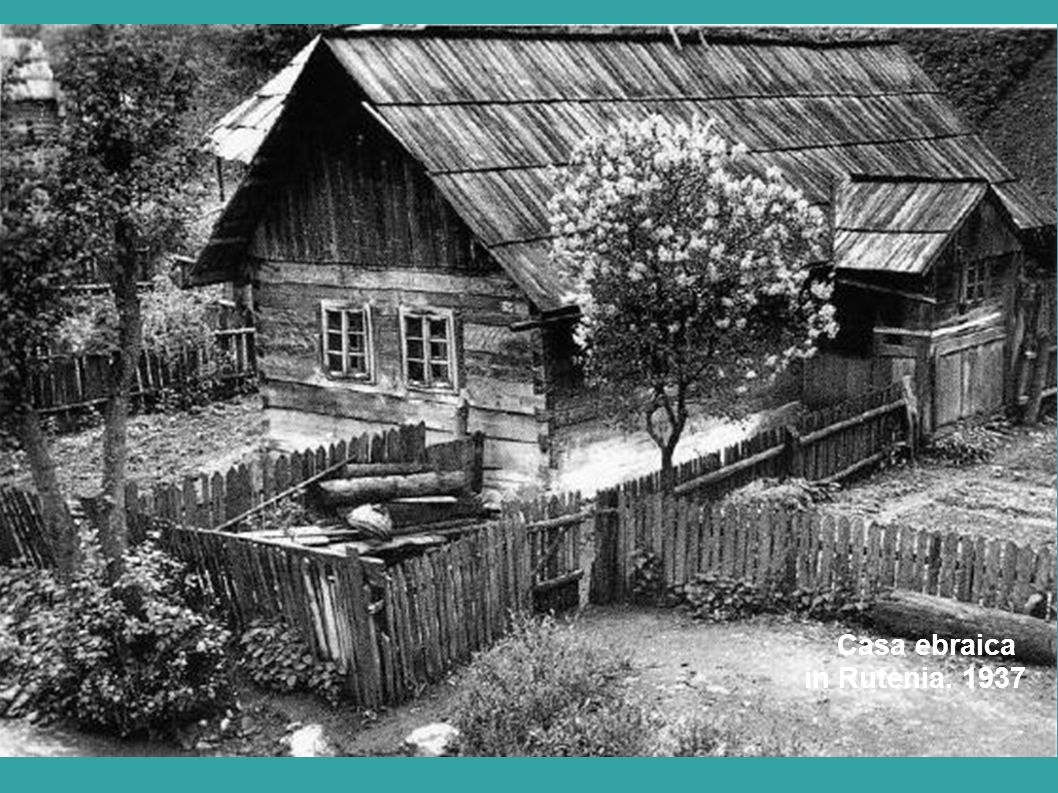 Casa ebraica in Rutenia. 1937