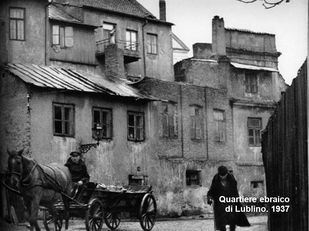 Quartiere ebraico di Lublino. 1937
