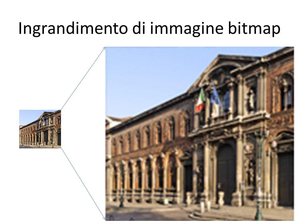 Ingrandimento di immagine bitmap 29Informatica di base – Linea 1