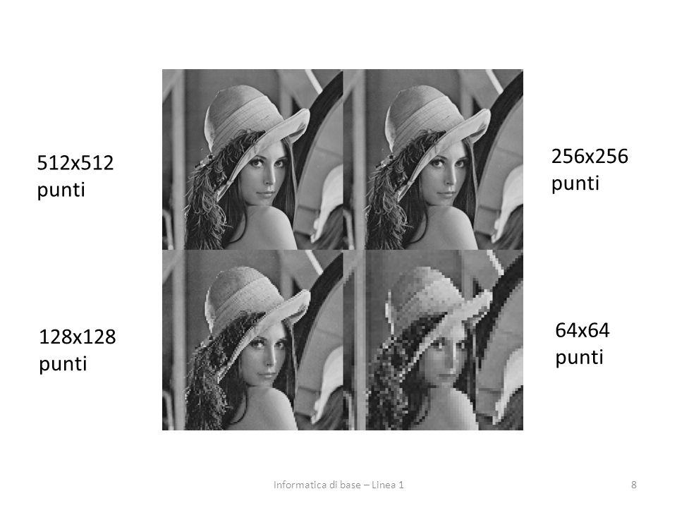 Rappresentazione delle immagini in BN 9Informatica di base – Linea 1
