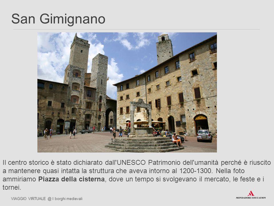 Le torri, che costituiscono la caratteristica più riconoscibile di San Gimignano, erano costruite in pietra.
