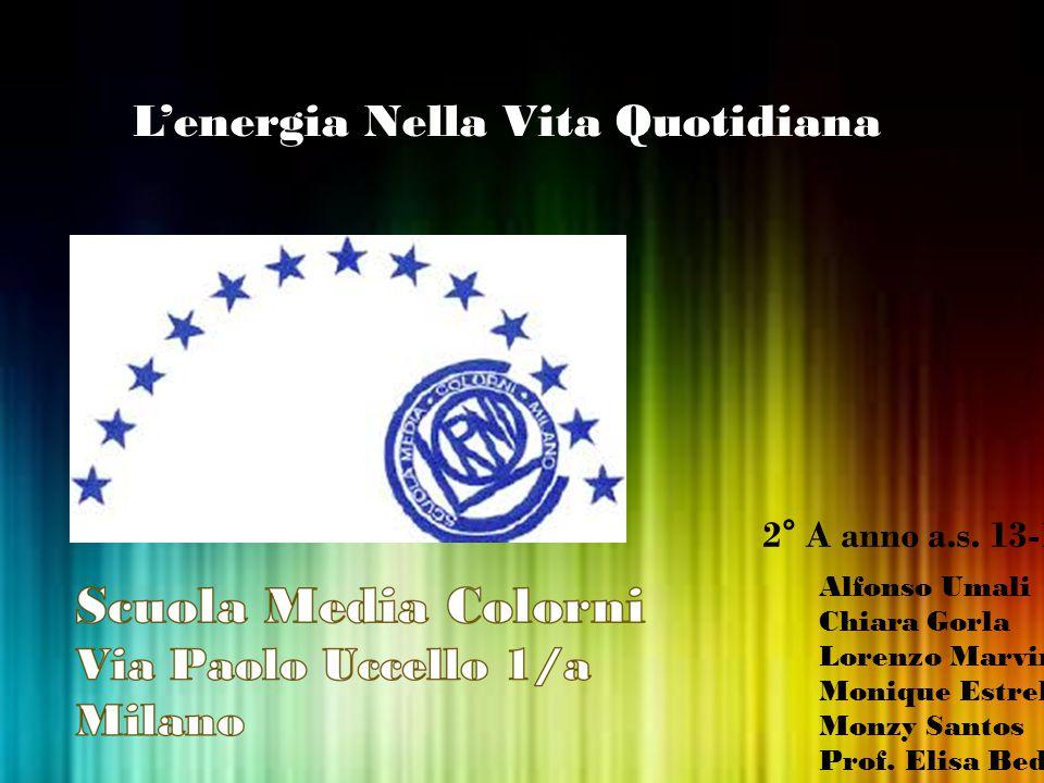 L'energia Nella Vita Quotidiana Alfonso Umali Chiara Gorla Lorenzo Marvini Monique Estrella Monzy Santos Prof. Elisa Bedini 2° A anno a.s. 13-14