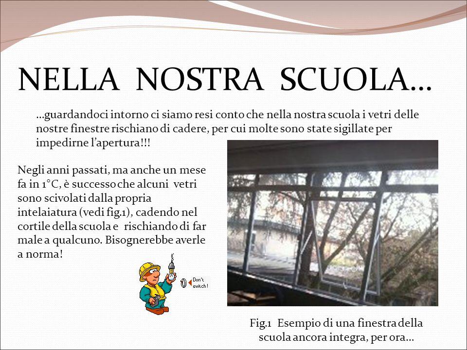 NELLA NOSTRA SCUOLA… …guardandoci intorno ci siamo resi conto che nella nostra scuola i vetri delle nostre finestre rischiano di cadere, per cui molte