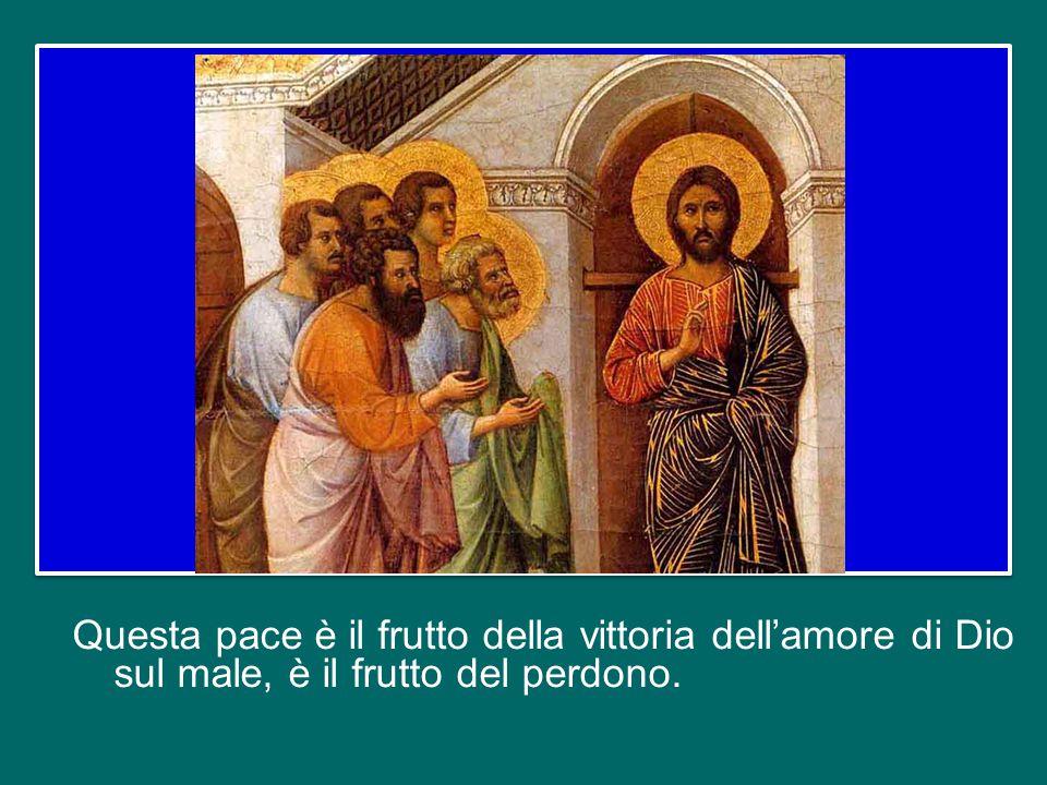 Non è un saluto, e nemmeno un semplice augurio: è un dono, anzi, il dono prezioso che Cristo offre ai suoi discepoli dopo essere passato attraverso la