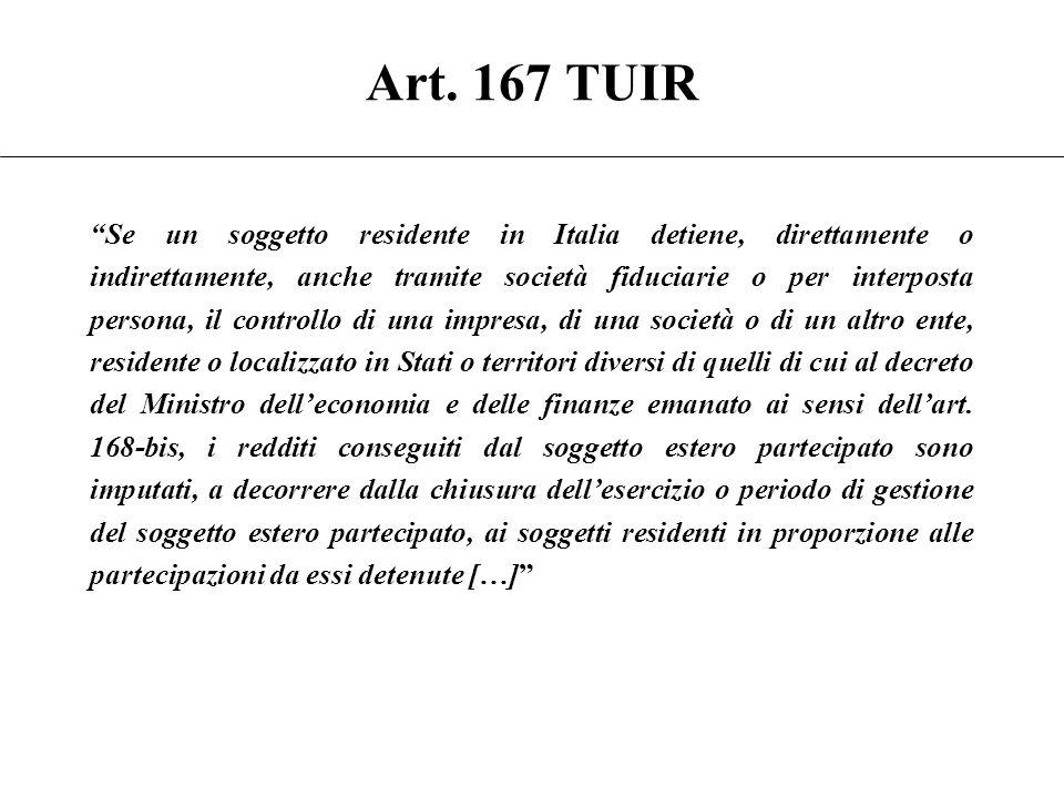 Disciplina delle controlled foreign companies (CFC) Prof. Marco Cerrato