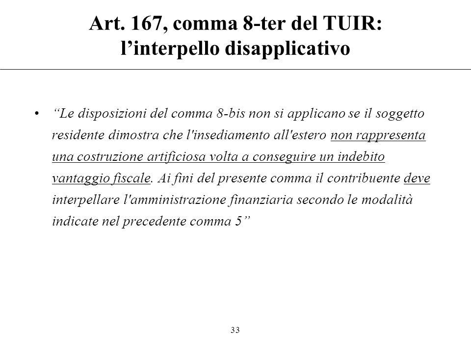 """Art. 167, comma 8-bis del TUIR: la tassazione effettiva Necessario far riferimento al """"carico effettivo di imposizione (e non all'aliquota nominale di"""