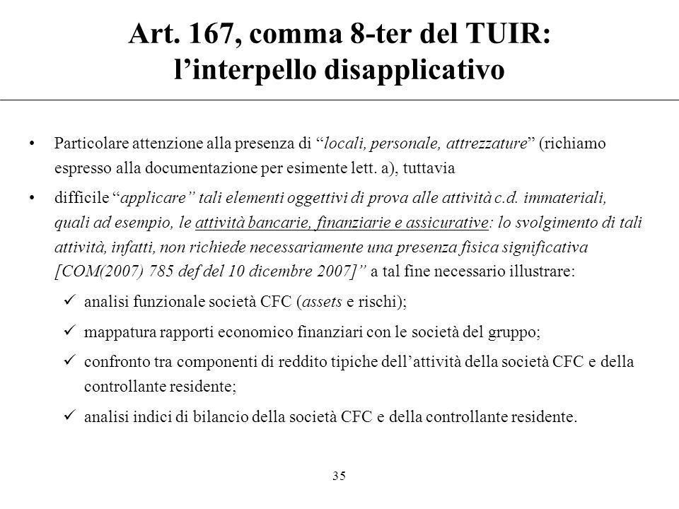 """Art. 167, comma 8-ter del TUIR: l'interpello disapplicativo Il parere dell'Agenzia """"non viene reso sulla base di elementi valutati in maniera discrezi"""