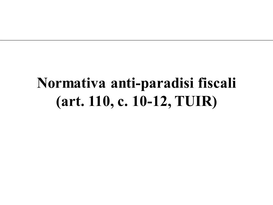 Art. 168, comma 1 TUIR Nozione di impresa collegata –Detenzione diretta o indiretta anche tramite società fiduciarie o per interposta persona di una p