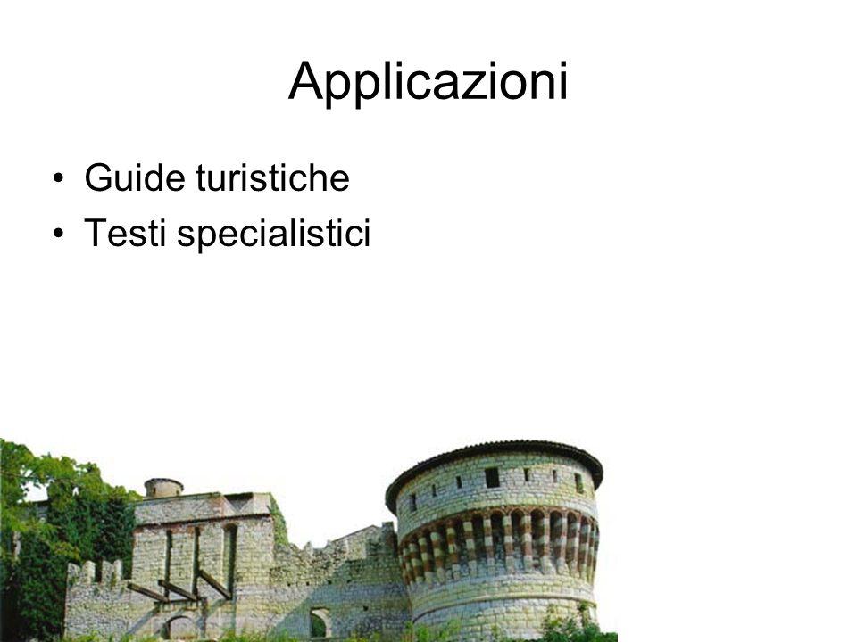 Applicazioni Guide turistiche Testi specialistici