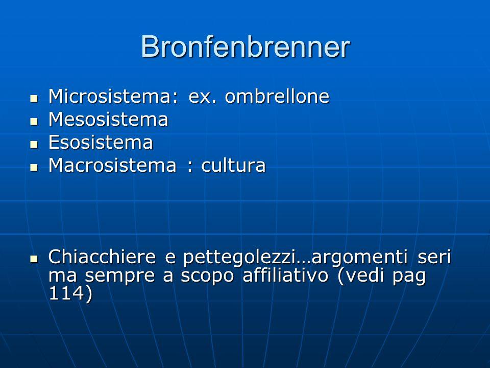 Bronfenbrenner Microsistema: ex.ombrellone Microsistema: ex.
