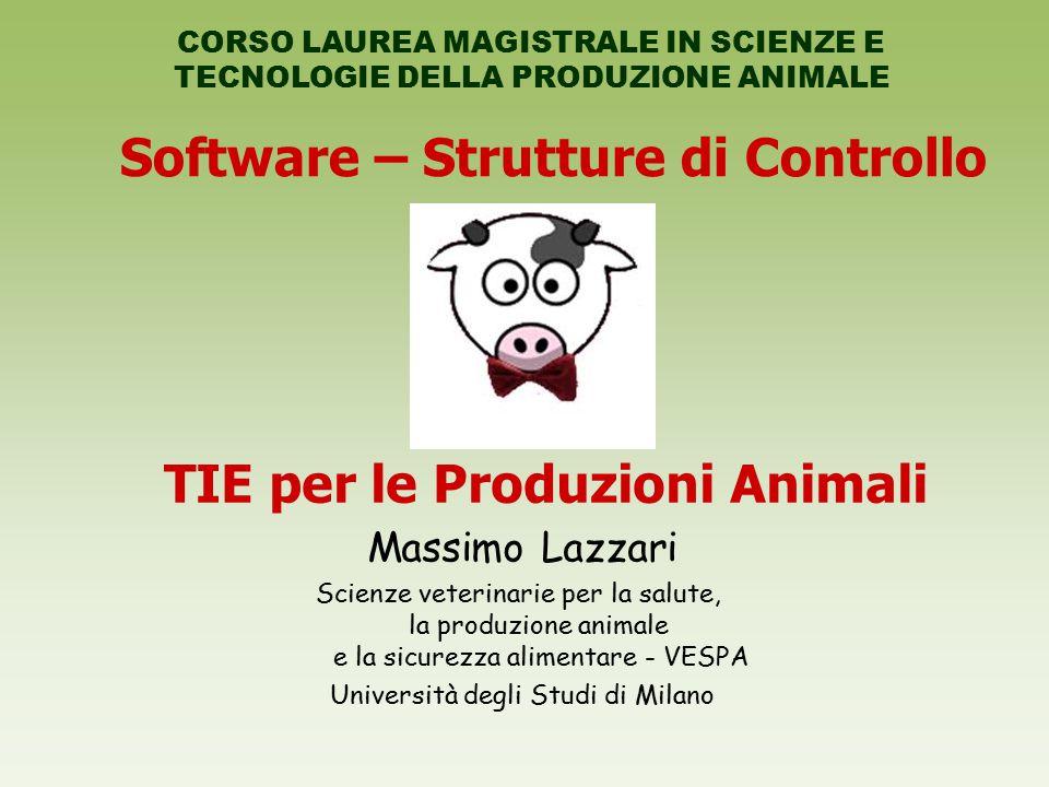 Software – Strutture di Controllo Massimo Lazzari Scienze veterinarie per la salute, la produzione animale e la sicurezza alimentare - VESPA Universit