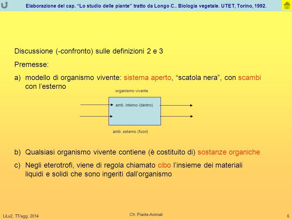 """LiLu2, TT/agg. 2014 Cfr. Piante-Animali 6 Elaborazione del cap. """"Lo studio delle piante"""" tratto da Longo C.. Biologia vegetale. UTET, Torino, 1992. Di"""