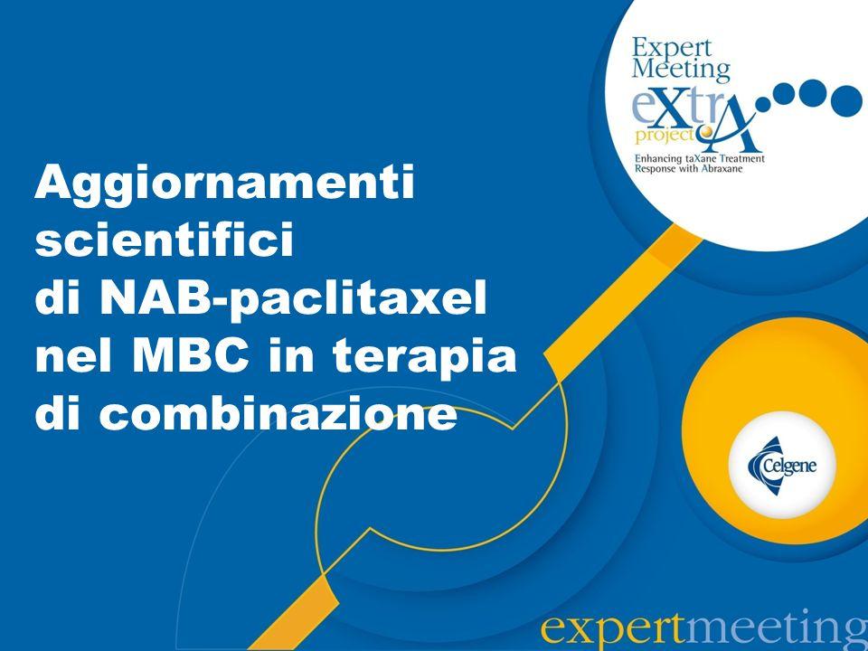 Studi con Abraxane in combinazione con schedula settimanale: dati di efficacia e tollerabilità Jackisch C et al., Breast Care (Basel).