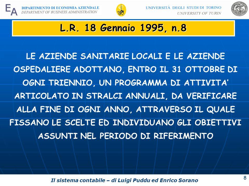 Il sistema contabile – di Luigi Puddu ed Enrico Sorano 8 L.R.