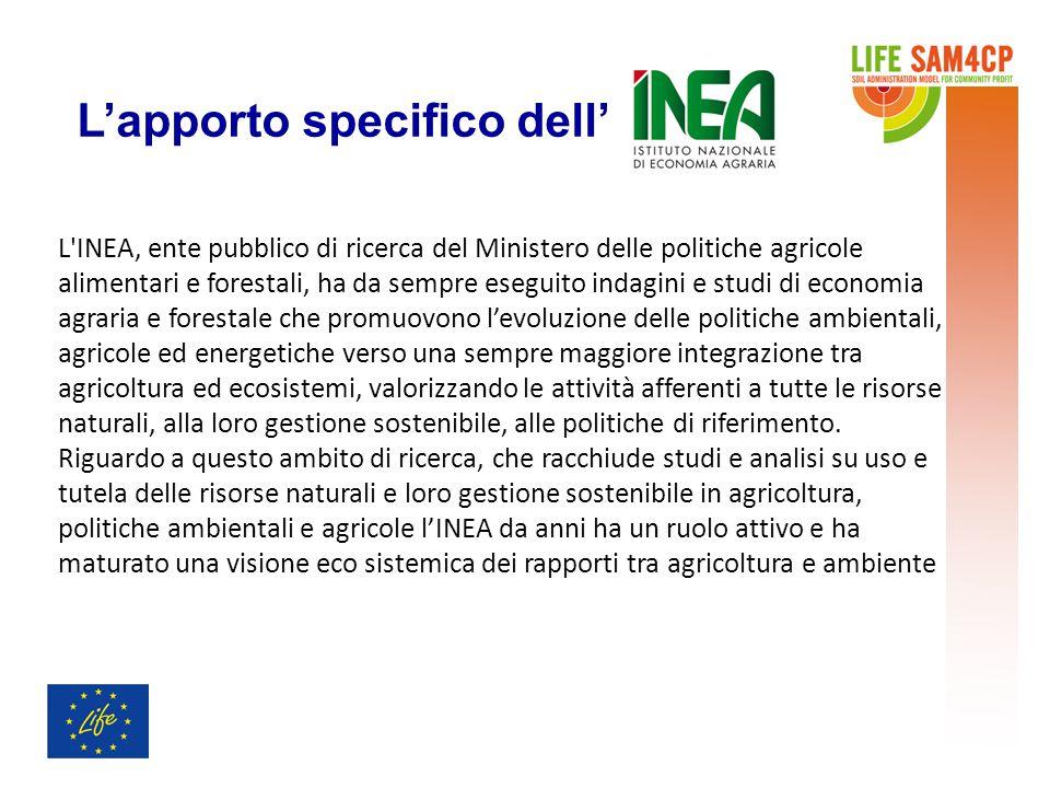 L'INEA, ente pubblico di ricerca del Ministero delle politiche agricole alimentari e forestali, ha da sempre eseguito indagini e studi di economia agr