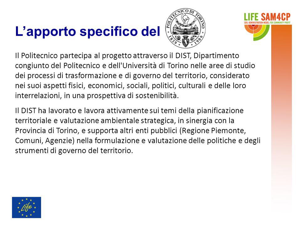 L'apporto specifico del Il Politecnico partecipa al progetto attraverso il DIST, Dipartimento congiunto del Politecnico e dell'Università di Torino ne