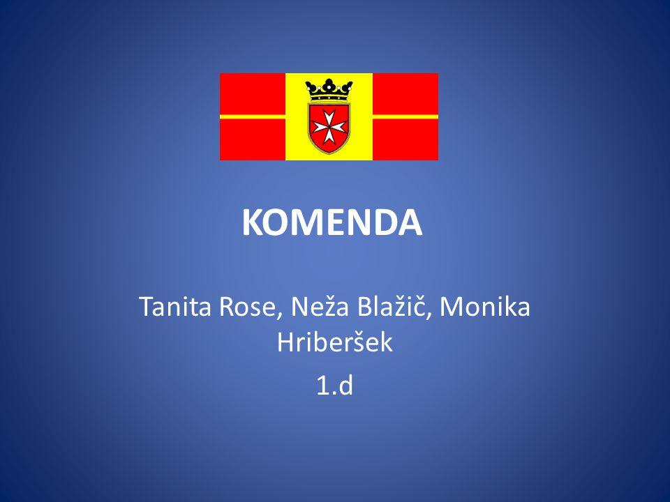 KOMENDA Tanita Rose, Neža Blažič, Monika Hriberšek 1.d
