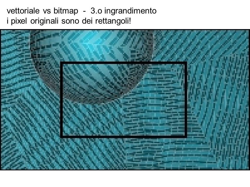 vettoriale vs bitmap - 3.o ingrandimento i pixel originali sono dei rettangoli!