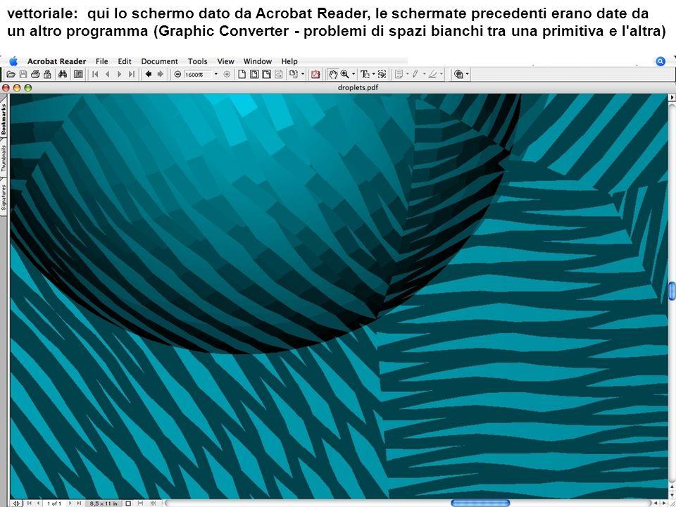 vettoriale: qui lo schermo dato da Acrobat Reader, le schermate precedenti erano date da un altro programma (Graphic Converter - problemi di spazi bianchi tra una primitiva e l altra)