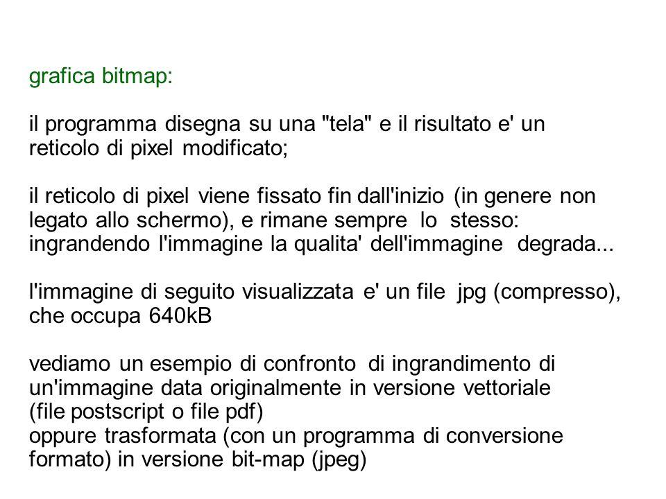 vettoriale vs bitmap Immagine di partenza (immagine costruita da A.
