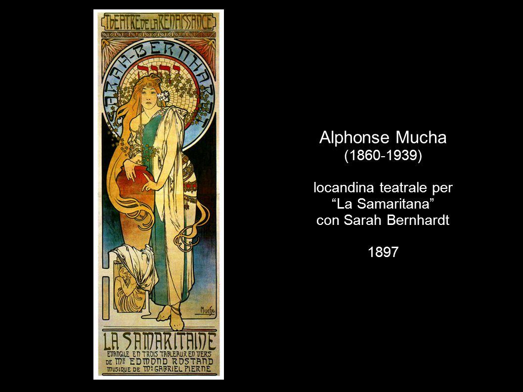"Alphonse Mucha (1860-1939) locandina teatrale per ""La Samaritana"" con Sarah Bernhardt 1897"