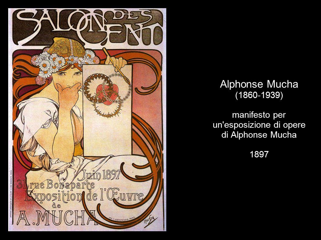 Alphonse Mucha (1860-1939) manifesto per un'esposizione di opere di Alphonse Mucha 1897