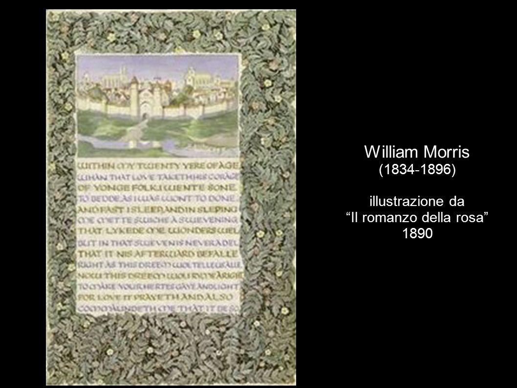 """William Morris (1834-1896) illustrazione da """"Il romanzo della rosa"""" 1890"""