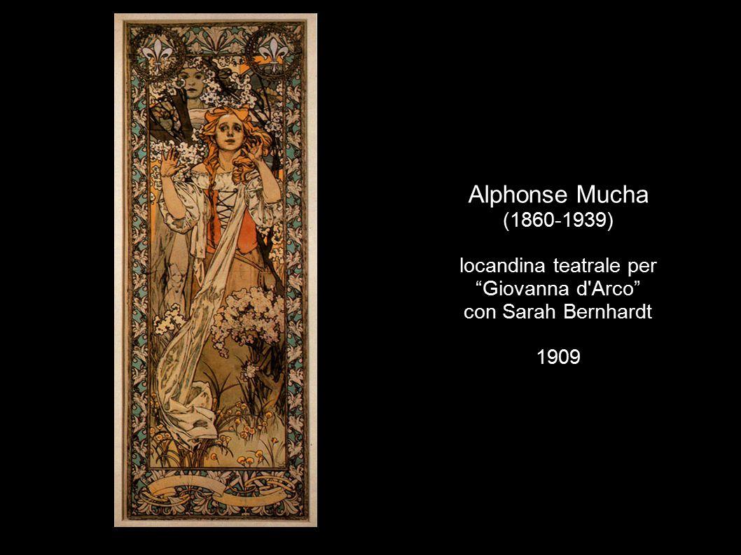 "Alphonse Mucha (1860-1939) locandina teatrale per ""Giovanna d'Arco"" con Sarah Bernhardt 1909"