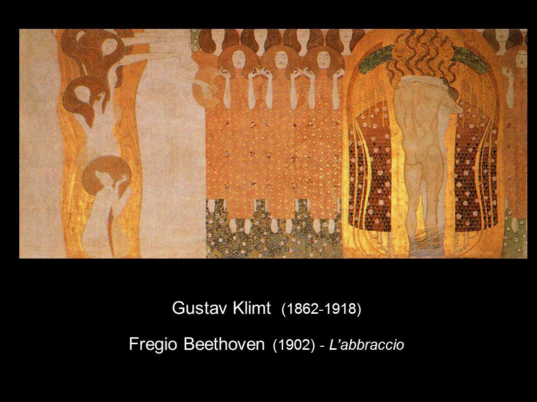 Gustav Klimt (1862-1918) Fregio Beethoven (1902) - L'abbraccio