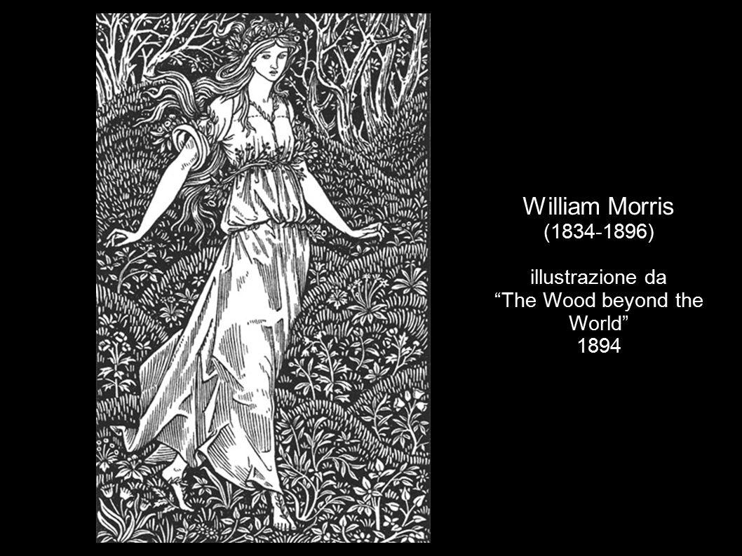 William Morris (1834-1896) illustrazione da The Well at the World end 1896