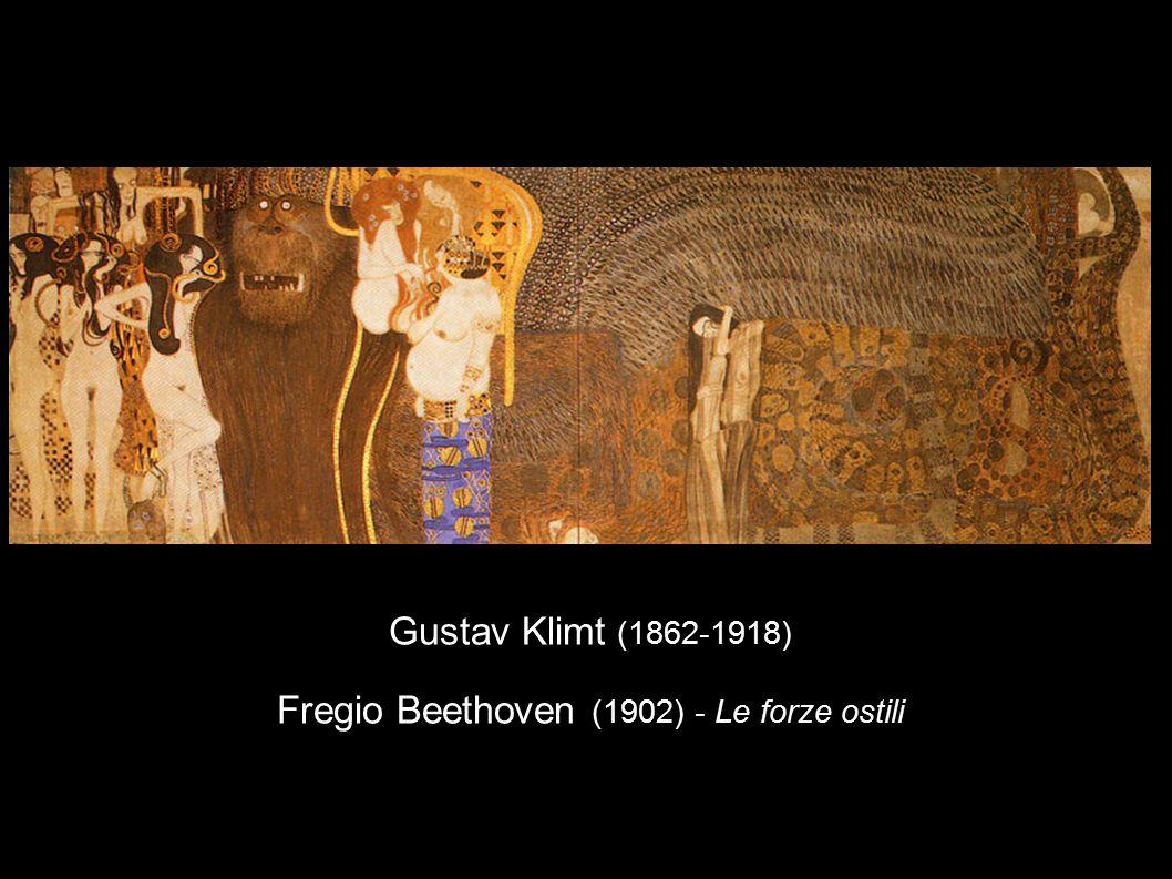 Gustav Klimt (1862-1918) Fregio Beethoven (1902) - Le forze ostili