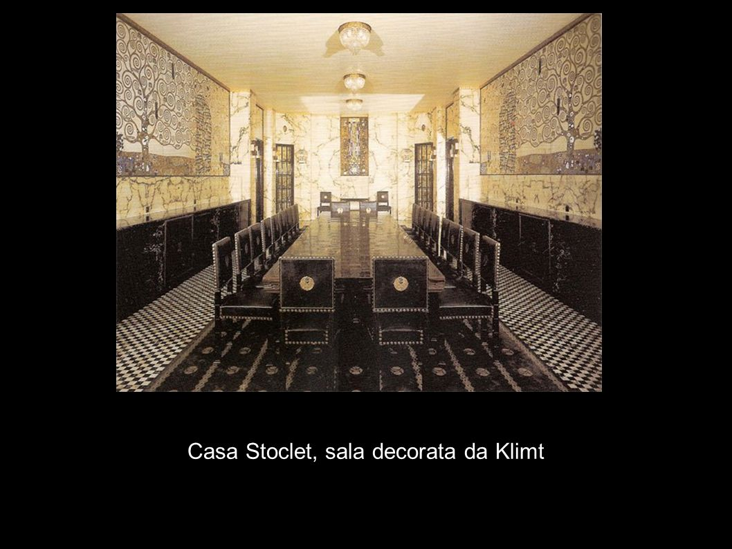 Casa Stoclet, sala decorata da Klimt