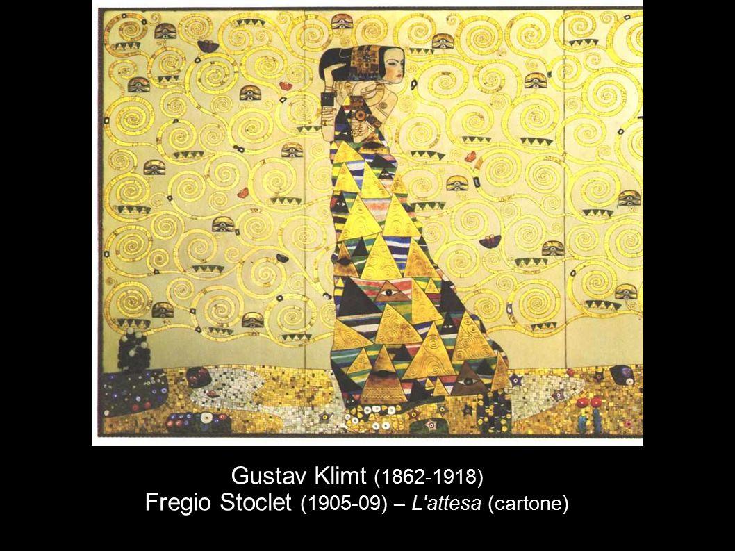 Gustav Klimt (1862-1918) Fregio Stoclet (1905-09) – L'attesa (cartone)