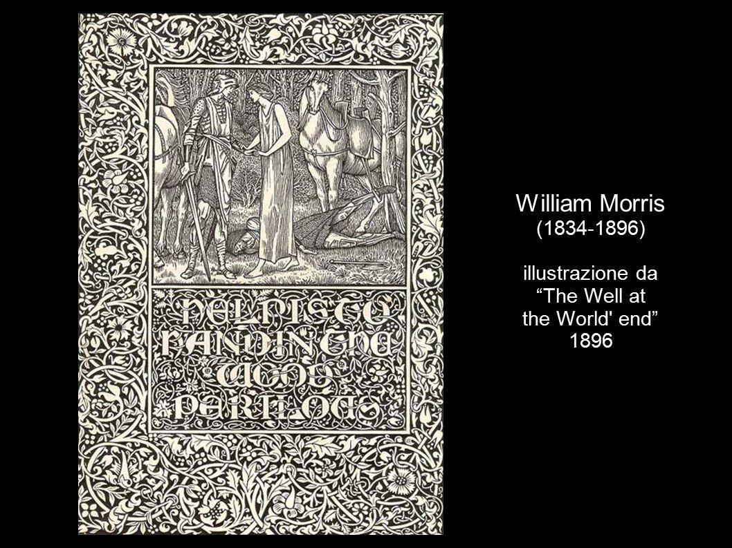 William Morris (1834-1896) design per una stoffa - 1896