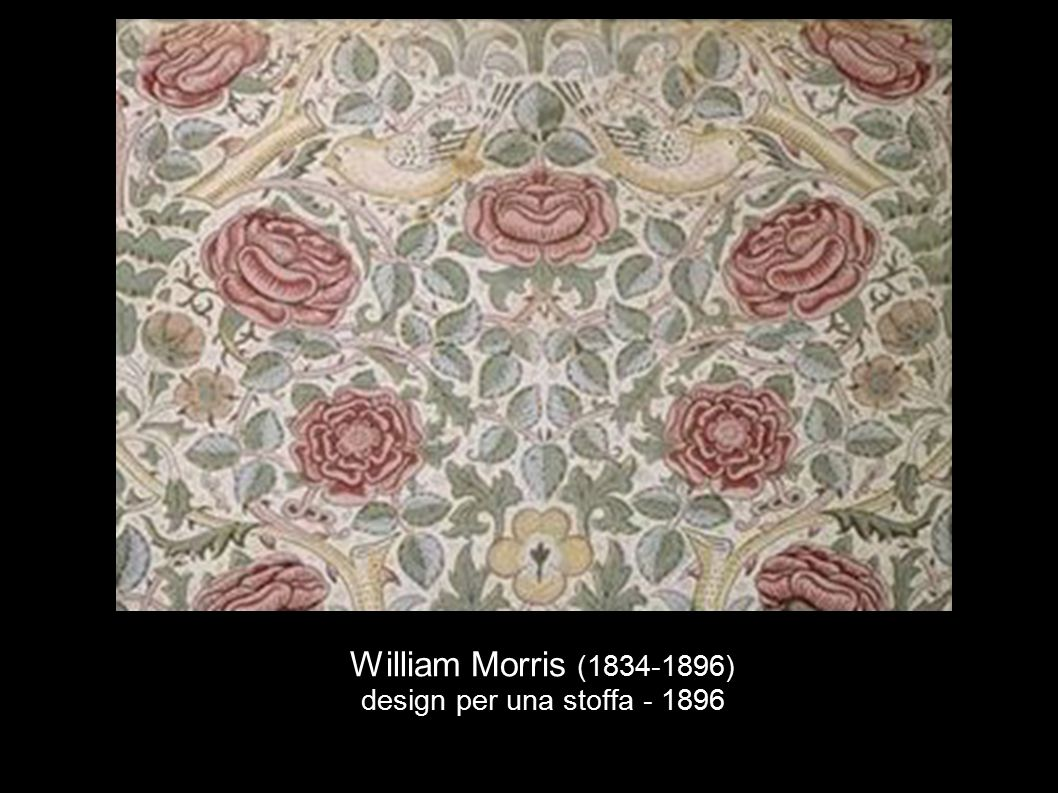 William Morris (1834-1896) design per una stoffa - 1896