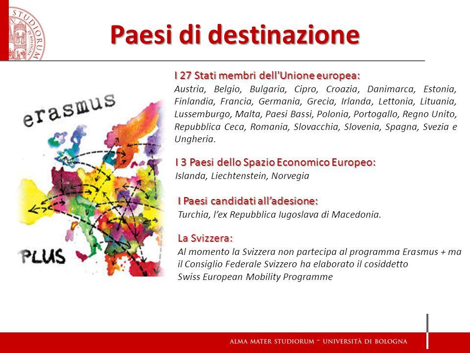 Paesi di destinazione I 27 Stati membri dell'Unione europea: Austria, Belgio, Bulgaria, Cipro, Croazia, Danimarca, Estonia, Finlandia, Francia, German