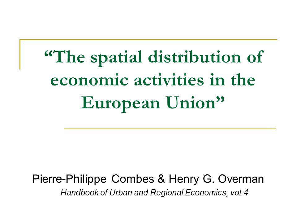 Conclusioni Uno degli obiettivi di questo lavoro era quello di paragonare la geografia economica dell'UE con quella degli USA.