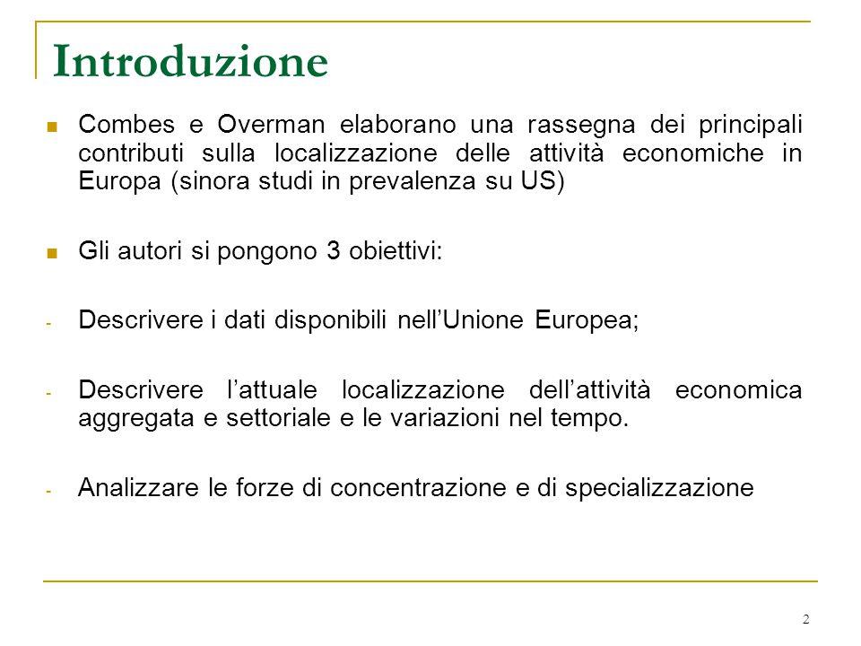 3 A) I database europei regionali I database a livello europeo sono incompleti e confusi.