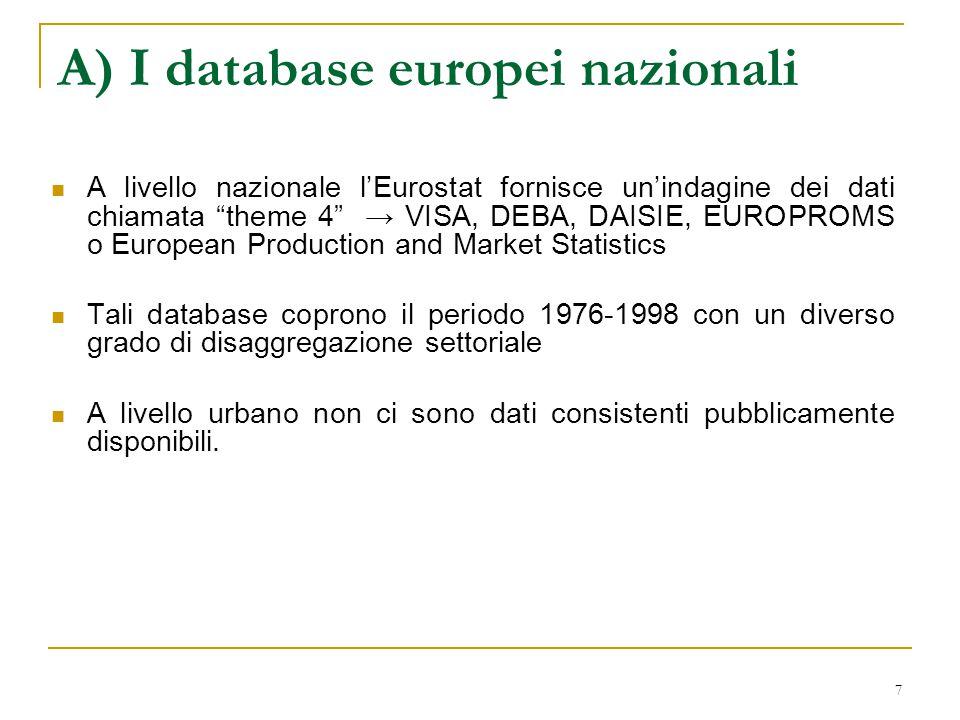 8 B) Distribuzione spaziale dell'attività economica nell'Unione Europea.