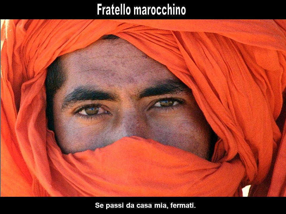 Perdonami se ti chiamo così, anche se col Marocco non hai nulla da spartire.