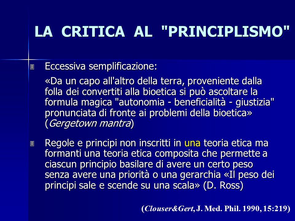 LA CRITICA AL PRINCIPLISMO ( Clouser&Gert, J.Med.