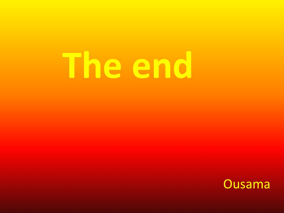 The end Ousama