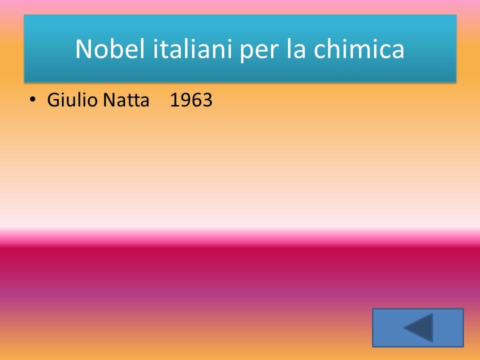 Giulio Natta 1963 Nobel italiani per la chimica