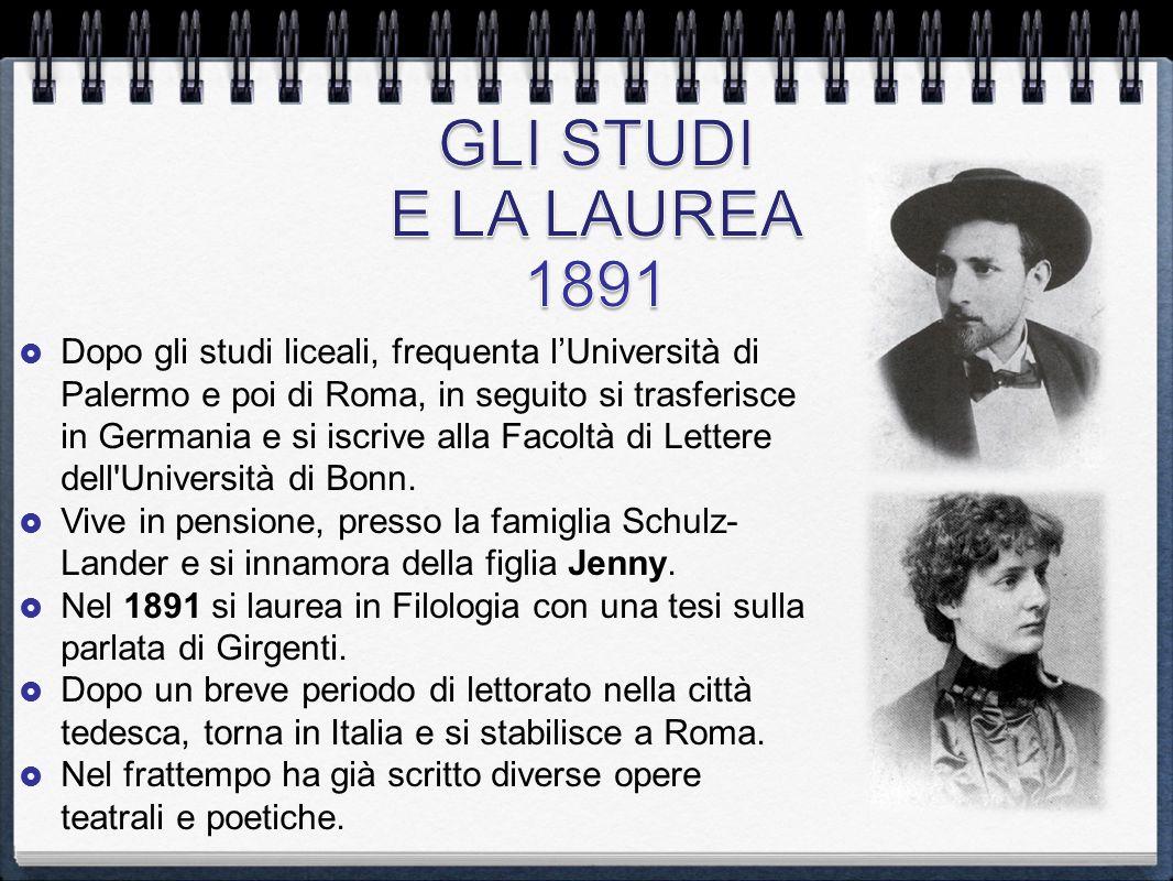  Dopo gli studi liceali, frequenta l'Università di Palermo e poi di Roma, in seguito si trasferisce in Germania e si iscrive alla Facoltà di Lettere