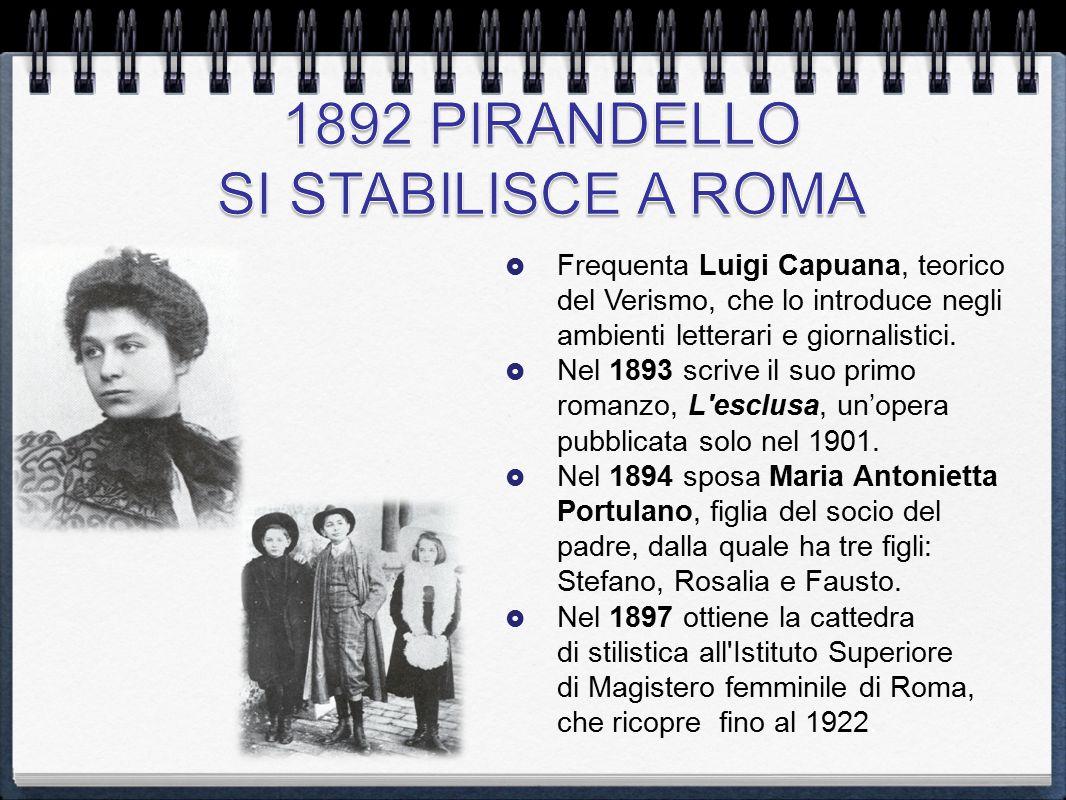  Frequenta Luigi Capuana, teorico del Verismo, che lo introduce negli ambienti letterari e giornalistici.  Nel 1893 scrive il suo primo romanzo, L'e