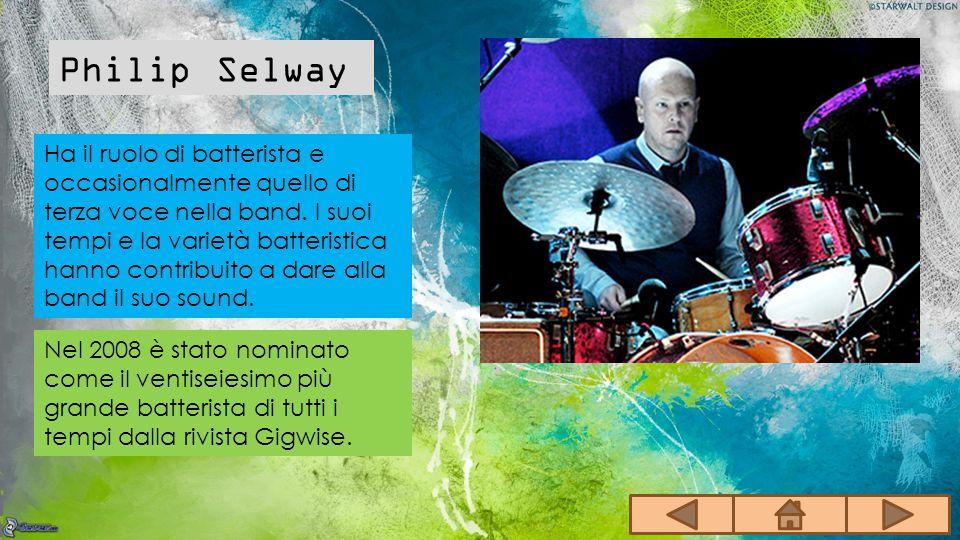 Ha il ruolo di batterista e occasionalmente quello di terza voce nella band. I suoi tempi e la varietà batteristica hanno contribuito a dare alla band