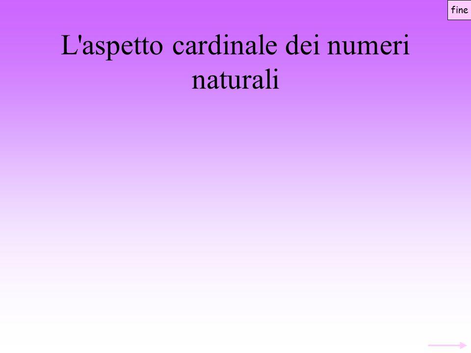 L aspetto cardinale dei numeri naturali Un numero è considerato come l astratto comune ad una classe di insiemi equivalenti rispetto alla relazione di equipotenza Ritorno ai diversi approcci Due insiemi M e N sono equipotenti se esiste una corrispondenza biunivoca di M in N fine