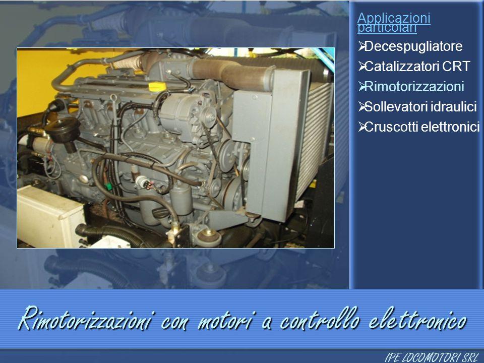 Rimotorizzazioni con motori a controllo elettronico Applicazioni particolari  Decespugliatore  Catalizzatori CRT  Rimotorizzazioni  Sollevatori id