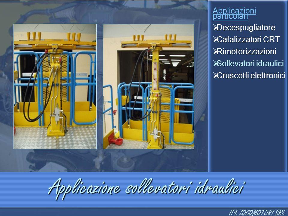 Applicazione sollevatori idraulici Applicazioni particolari  Decespugliatore  Catalizzatori CRT  Rimotorizzazioni  Sollevatori idraulici  Cruscot